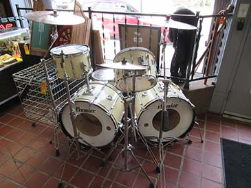 Premier Double Bass Vintage Drum Set