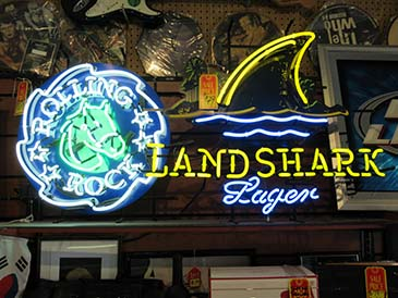 Landshark Beer Sign